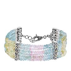 Bali Designs Shades of Beryl Multi-Row Beaded Bracelet