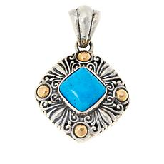 Bali Designs Sterling Silver and 18K Gem Scrollwork Pendant
