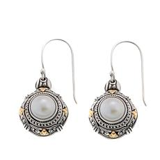 Bali Designs Sterling Silver and 18K Gold Mabé Pearl Leaf Earrings