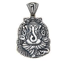 Bali Designs Sterling Silver Ganesha Pendant