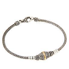 Bali Designs Sterling Silver Two-Tone Tulang Naga Bead Bracelet