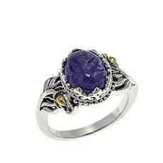 Bali RoManse 3.59ct Tanzanite Leaf Ring