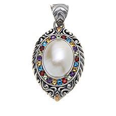 Bali RoManse Cultured Mabé Pearl and Multi-Gemstone Pendant