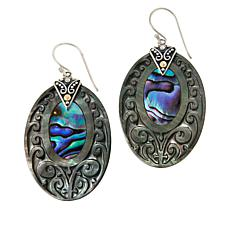 Bali RoManse Mother-of-Pearl and Abalone Oval Drop Earrings