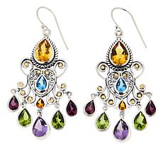 Bali RoManse Multi-Gemstone Chandelier Earrings