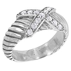 Bali RoManse Pavé Gemstone X-Design Cable Ring