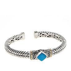Bali RoManse Sterling Silver 18K Indah Jiwa Cuff Bracelet
