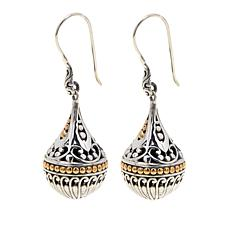Bali RoManse Sterling Silver & 18K Gold Scrollwork Orb Drop Earrings