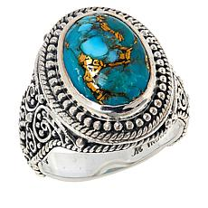 Bali RoManse Sterling Silver Mohave Turquoise Ring