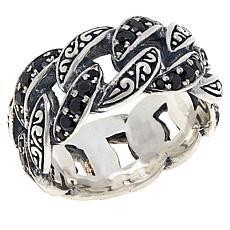 Bali RoManse Sterling Silver Unisex Gemstone Link Band Ring