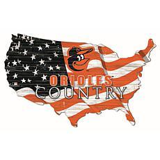 Baltimore Orioles USA Shape Flag Cutout