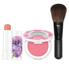 bareMinerals Floral Utopia 3-piece Highlighter, Blush and Brush Set