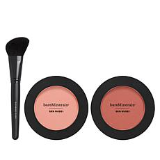 bareMinerals® Gen Nude™ Pink Powder Blush Duo with Brush