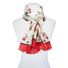 Basha Christmas Dog Oblong Scarf