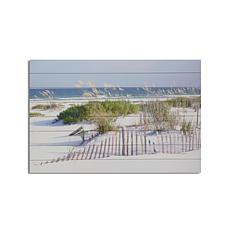 Beach Fence 24x36 Print on Wood
