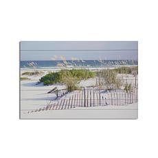 Beach Fence 24x36 Print on Wood