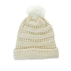 BEARPAW® 2 in 1 Knit Scarf Hat with Pompom