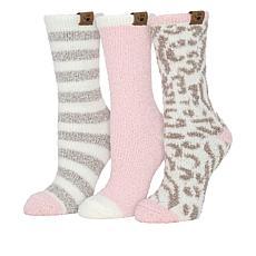 BEARPAW® 3-Pair Cozy Crew Sock Holiday Gift Set