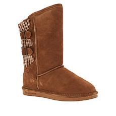 BEARPAW® Boshie Suede Sheepskin Buckled Boot with NeverWet™