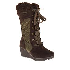 BEARPAW® Destiny Suede Nylon Lace-Up Wedge Boot with NeverWet™