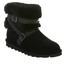 BEARPAW® Kiera Suede and Faux Fur Buckled Boot with NeverWet®