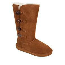 BEARPAW® Lori Suede Sheepskin Toggle Boot with NeverWet™