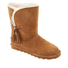 BEARPAW® Marianna Suede Tassel Boot with NeverWet™ - Wide