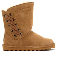 BEARPAW® Morgan Suede Grommet Boot with NeverWet™