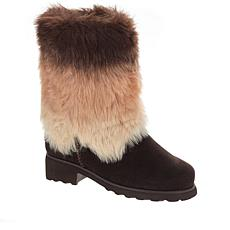 BEARPAW® Regina Suede Faux Fur Boot with NeverWet®