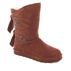 BEARPAW® Willow Suede Tie-Detail Boot with NeverWet™ - Wide