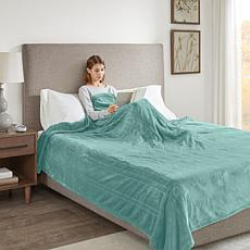 Beautyrest Heated Plush Blanket - Aqua Twin