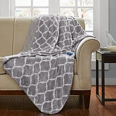 Beautyrest Heated Printed Microlight Oversized Throw