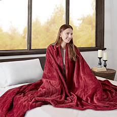 Beautyrest Microlight/Berber Heat Blanket - Twin/Red