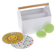 Beekman 1802 Happy Place 5-piece Cleaning Caddy Kit