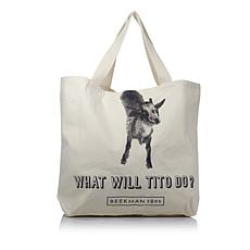 """Beekman 1802 """"#WWTD - What Will Tito Do?"""" Large Goat Tote"""