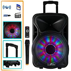 "beFree Sound 12"" Bluetooth Rechargeable Party Speaker With Illumina..."