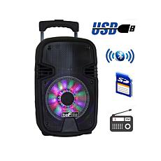 """beFree Sound 8"""" 400W Bluetooth Portable Party Speaker with Lights"""