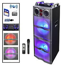 beFree Sound Double 10 Inch Subwoofer Bluetooth Portable Party Spea...