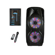 beFree Sound Double 12 Inch Subwoofer Portable Bluetooth Party PA S...
