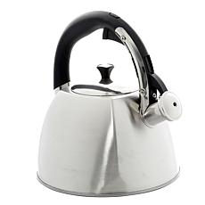 Belgrove 2.5 Qt Whistling Tea Kettle in Brushed Stainless Steel
