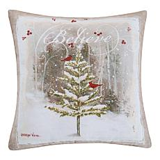 Believe Tree Indoor  Outdoor Pillow