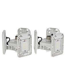 Bell + Howell 2-pack TriBurst 72-LED 3-Panel Socket Lights