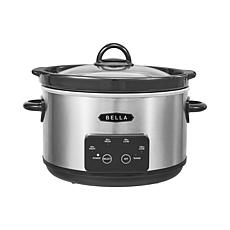 Bella 5-qt Programmable Slow Cooker with Dipper -Stainless Steel