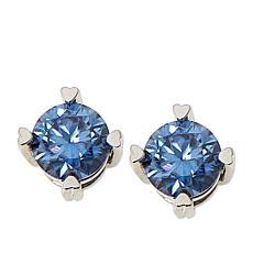 BellaMoi 1ctw Pink or Blue Created Moissanite Stud Earrings