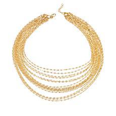 """Bellezza 18"""" Bronze Multi-Row Confetti-Link Necklace"""