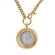 "Bellezza 36"" 100 Lira Coin Bronze Drop Necklace Necklace"