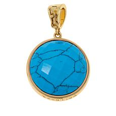 Bellezza 500 Lira Coin and Gemstone Reversible Enhancer Pendant