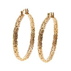 Bellezza Bronze Byzantine Link Hoop Earrings