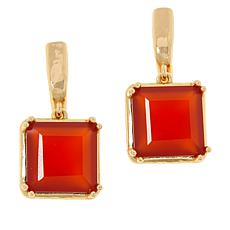 Bellezza Bronze Gemstone Hammered Drop Earrings