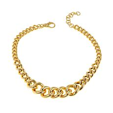 "Bellezza Bronze Graduated Curb-Link 18"" Necklace"